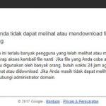 Cara Download Google Drive Kuota Terlampaui