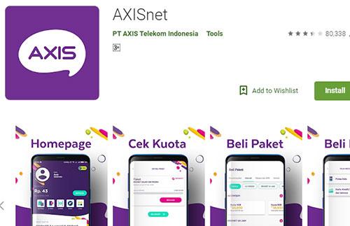 Cek Kuota Internet Axis Lewat Aplikasi Axis Net