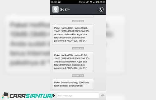 Cara Cek Kuota XL Lewat SMS