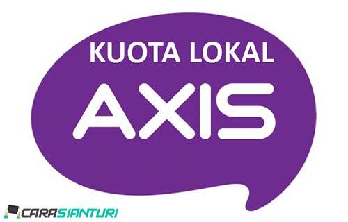 Cara Menggunakan Kuota Lokal Axis