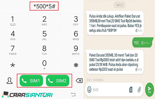 Aktifkan Paket Darurat Telkomsel