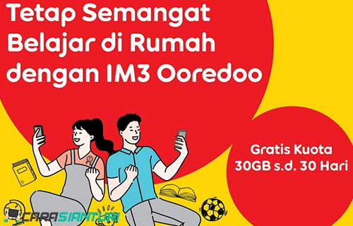 Cara Dapat Kuota Indosat 30GB Gratis