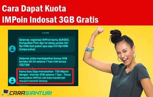 Cara Dapat Kuota IMPoin Indosat 3GB