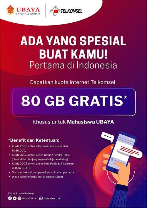 Rincian Kuota Gratis 80GB Telkomsel