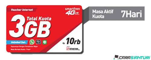 Voucher Smartfren Data 4G 16GB