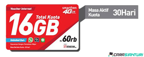 Voucher Smartfren Data 4G 3GB