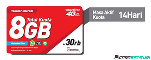 Voucher Smartfren Data 4G 8GB