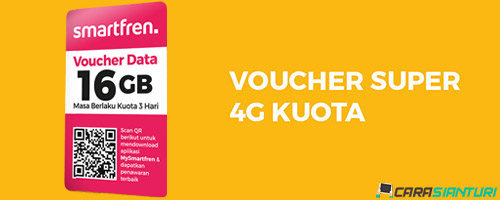 Voucher Smartfren Super 4G Kuota 16GB