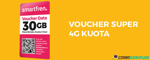 Voucher Smartfren Super 4G Kuota 30GB