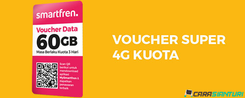 Voucher Smartfren Super 4G Kuota 60GB