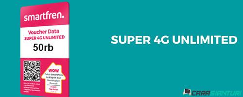 Voucher Smartfren Super 4G Unlimited 50rb
