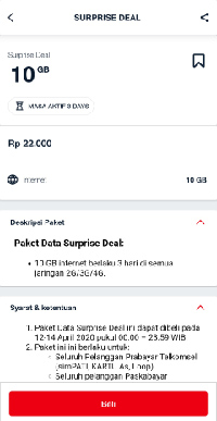 paket Surprise Deal Telkomsel