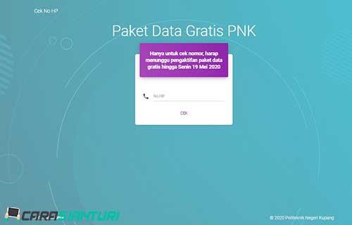 Cara Mendapatkan Paket Data Gratis PNK