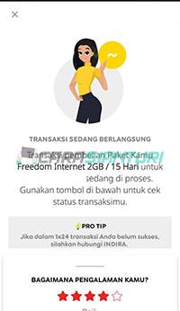 Cara gift paket Indosat berhasil dilakukan