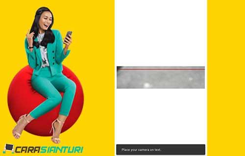 cara isi kuota indosat Via Scan QR Code