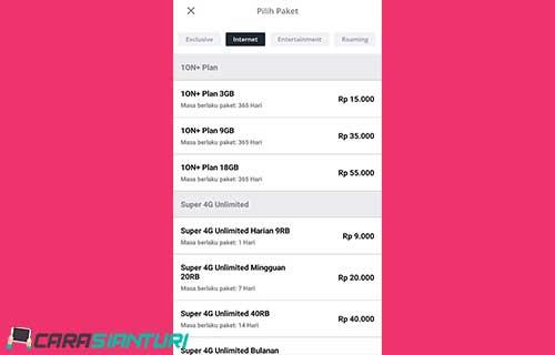 Cara Daftar Paket Smartfren 10N Plan