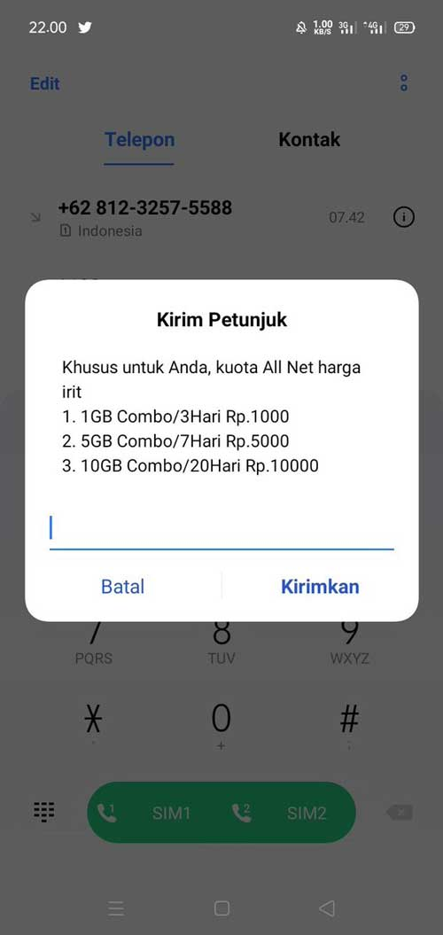 Kuota All Net Telkomsel