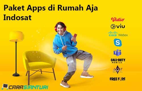 Paket Apps di Rumah Aja Indosat