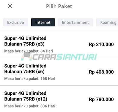 Cara Beli Paket Smartfren Super 4G Unlimited 75rb