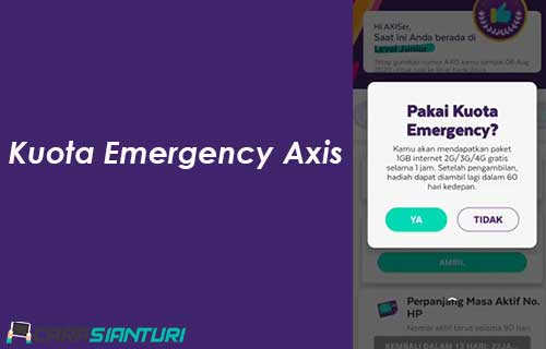 Kuota Emergency Axis