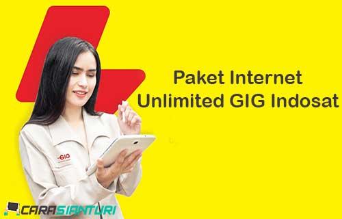 Paket Internet Unlimited GIG Indosat