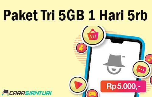 Paket Tri 5GB 1 Hari 5rb