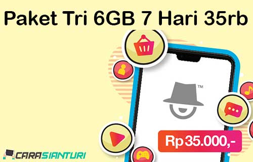 Paket Tri 6GB 7 Hari 35rb