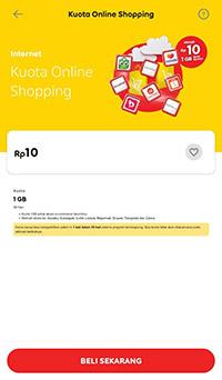 Cara Daftar Kuota Online Shopping Indosat