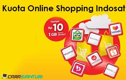 Kuota Online Shopping Indosat