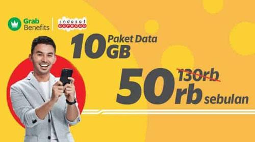 Paket Internet Driver Grab Pengguna Indosat