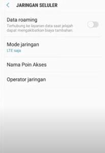 Silahkan masuk ke menu pengaturan lalu koneksi dan pilih jaringan seluler kemudian pilih mode jaringan ubah ke mode jaringan otomatis.