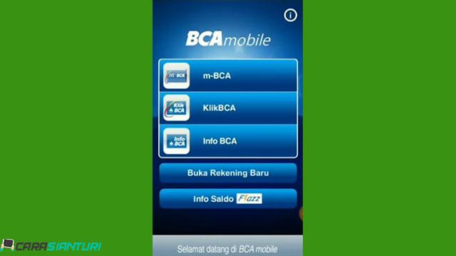 1 Buka Aplikasi M Banking BCA di Android atau iOS
