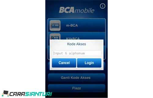 1. Buka aplikasi Mobile Banking BCA pilih M BCA