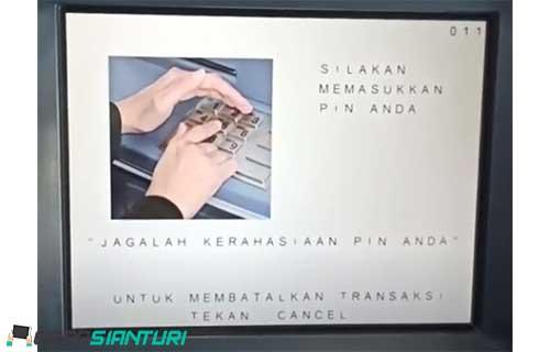 1. Silahkan masukkan PIN ATM BCA