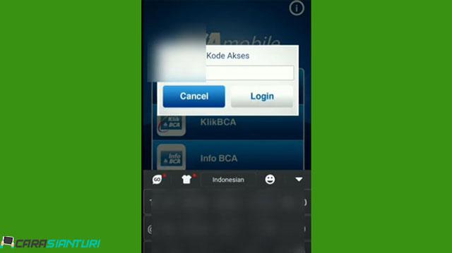 2 Masukkan Kode Akses M Banking BCA