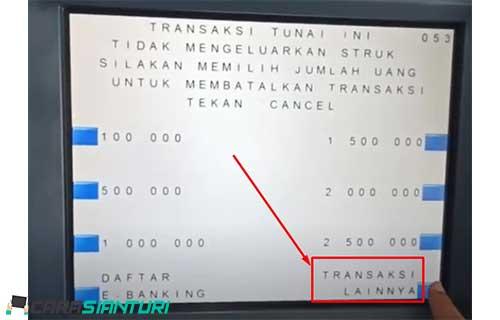 3. Pilih menu Transaksi Lainnya
