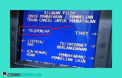 5 Pilih menu Telepon HP