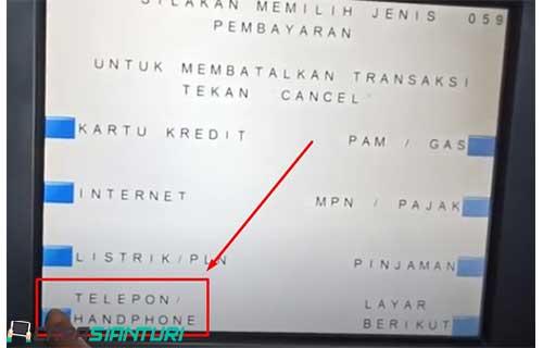5. Pilih menu TeleponHandphone