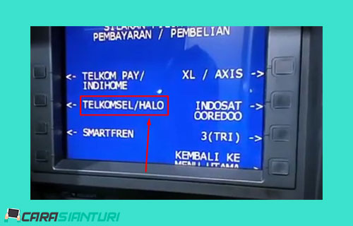 7 Pilih menu Telkomsel HALO