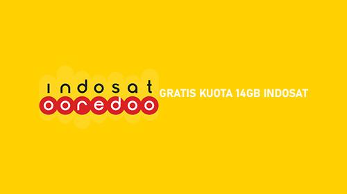 GRATIS KUOTA 14GB INDOSAT 1