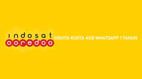 GRATIS KUOTA 4GB WHATSAPP 1 TAHUN