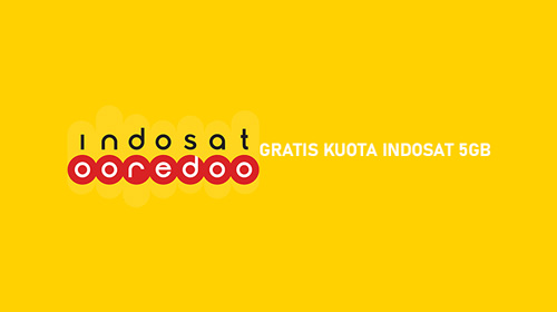 GRATIS KUOTA INDOSAT 5GB