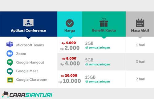 Harga Paket Kuota Conference XL