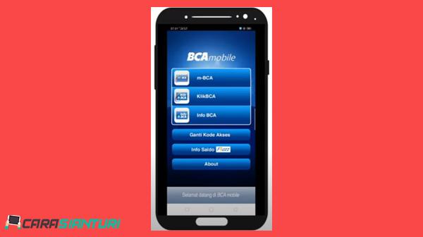 1 Buka Aplikasi BCA Mobile.