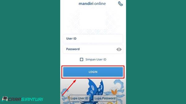 1 Silahkan buka aplikasi Mandiri Online di HP Android ataupun iOS