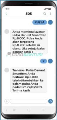 Hutang Pulsa Smartfren Berhasil