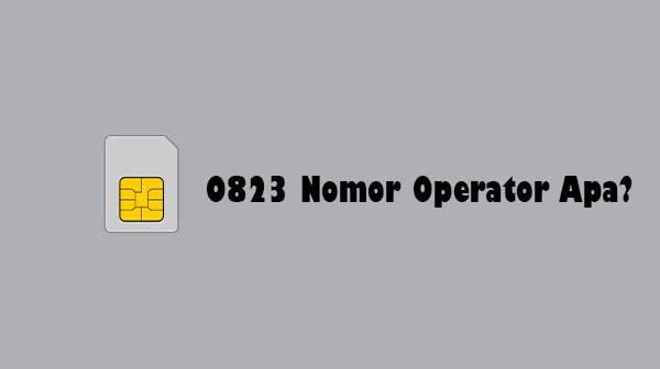 0823 Nomor Operator Apa