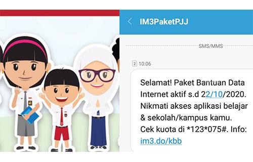 Cara Aktivasi Paket Bantuan Internet Indosat