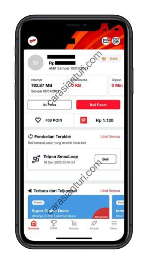 Masuk ke aplikasi MyTelkomsel
