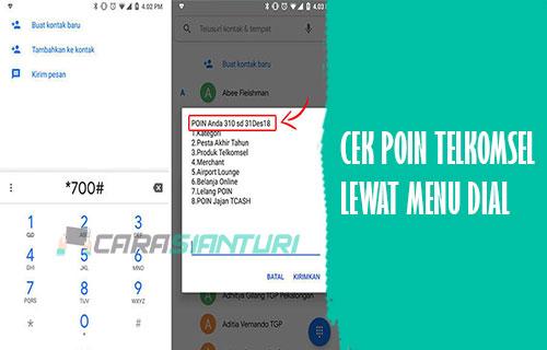 Cek Poin Telkomsel Lewat Dial Phone